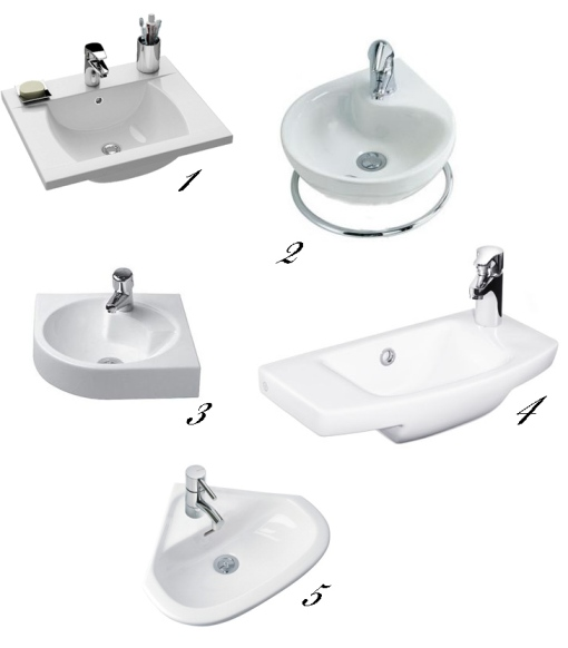 Selected mini washbasins