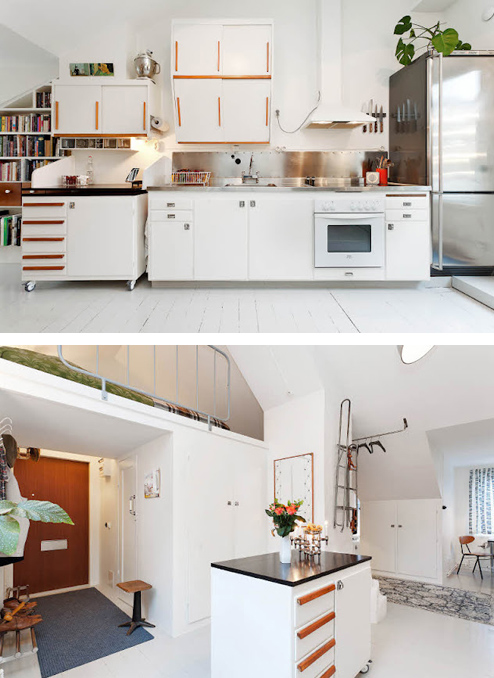 A fifties-style kitchen to die for.