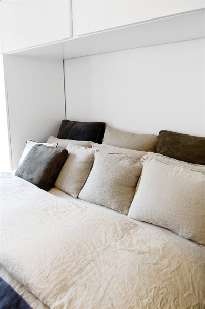Linen pillows.